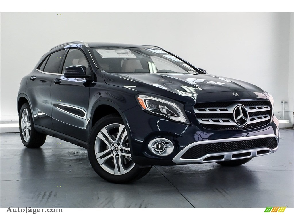 2018 GLA 250 - Lunar Blue Metallic / Sahara Beige photo #12