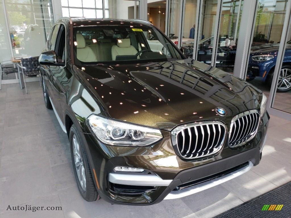 2018 X3 xDrive30i - Dark Olive Metallic / Canberra Beige/Black photo #1