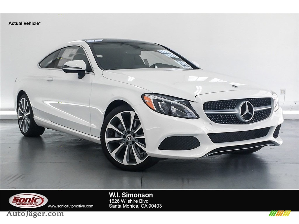 2018 C 300 Coupe - Polar White / Black photo #1