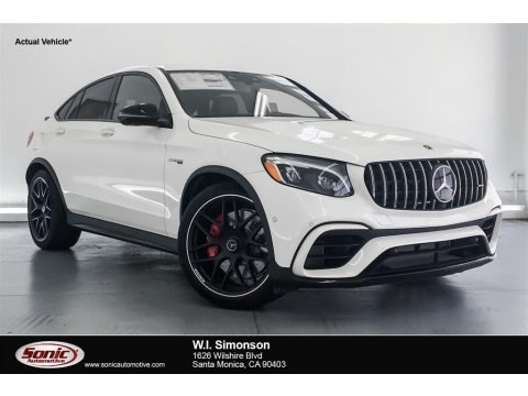 designo Diamond White Metallic 2018 Mercedes-Benz GLC AMG 63 S 4Matic Coupe