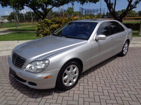 Brilliant Silver Metallic 2004 Mercedes-Benz S 500 4Matic Sedan