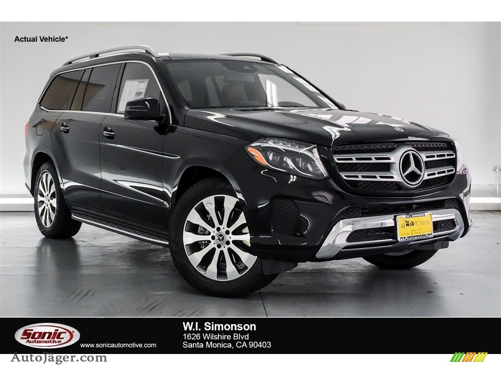 2018 GLS 450 4Matic - Black / Saddle Brown/Black photo #1
