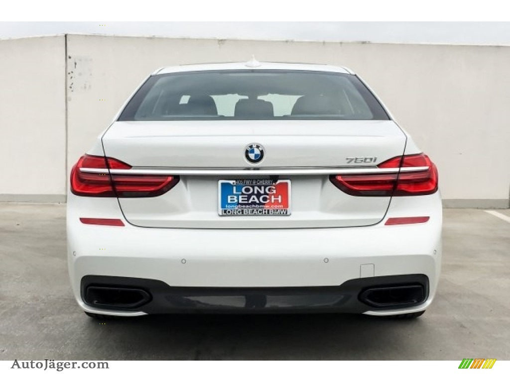 2019 7 Series 750i Sedan - Mineral White Metallic / Black photo #4