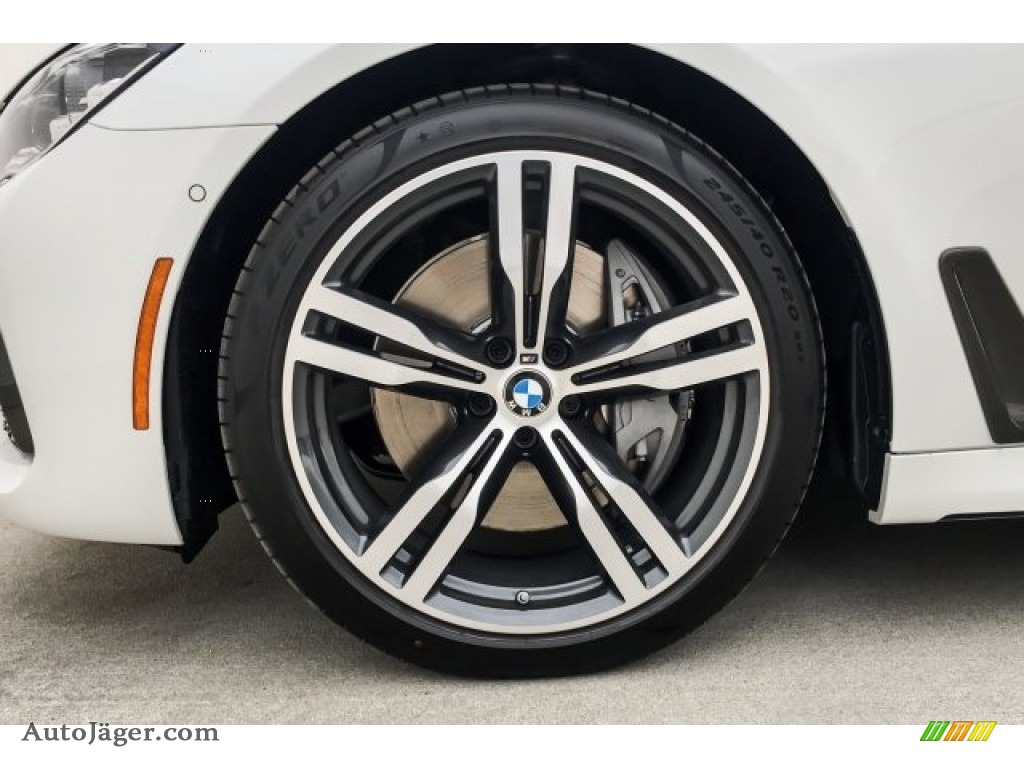 2019 7 Series 750i Sedan - Mineral White Metallic / Black photo #9