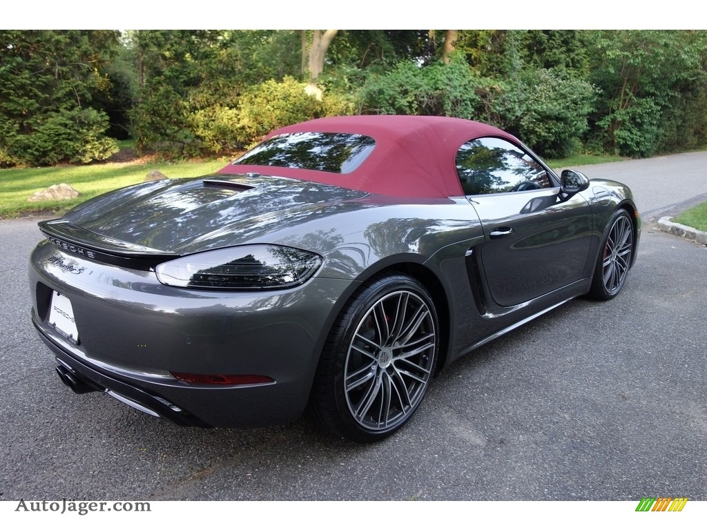 2017 718 Boxster S - Agate Grey Metallic / Black/Bordeaux Red photo #6