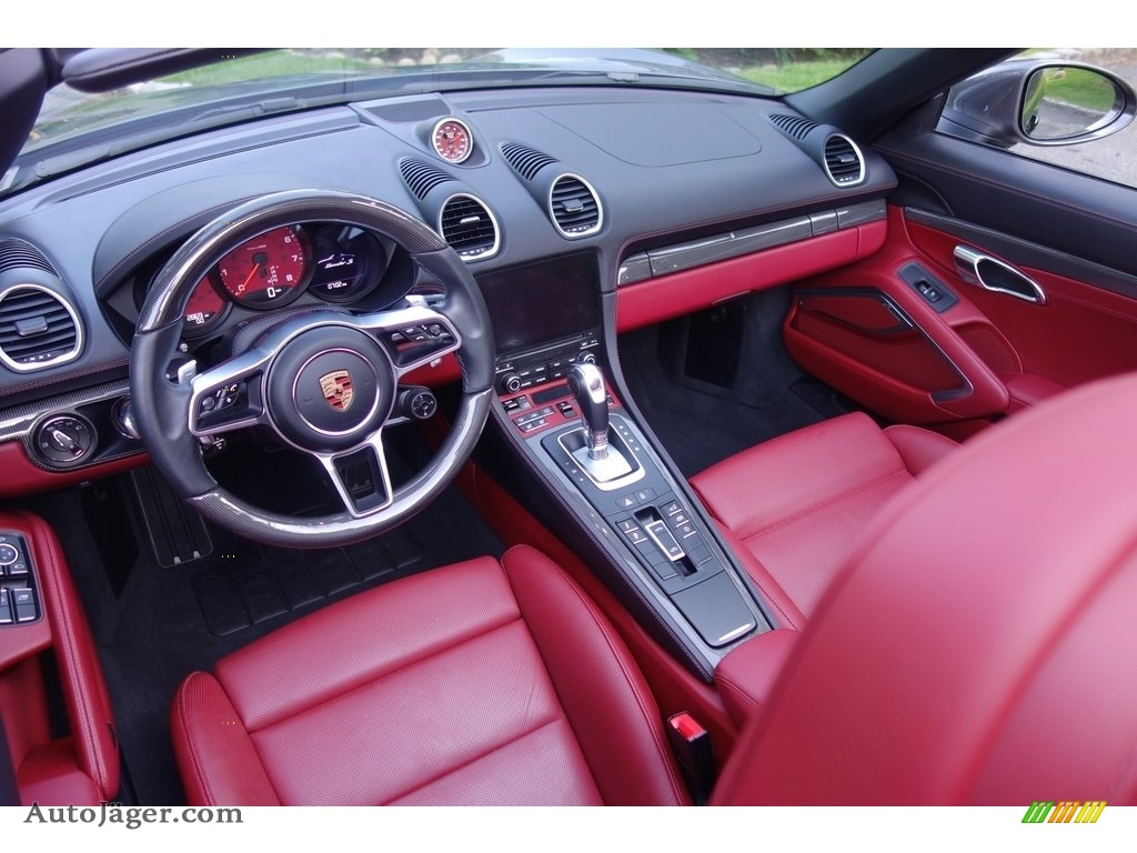 2017 718 Boxster S - Agate Grey Metallic / Black/Bordeaux Red photo #10