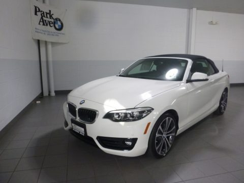 Alpine White 2018 BMW 2 Series 230i xDrive Convertible