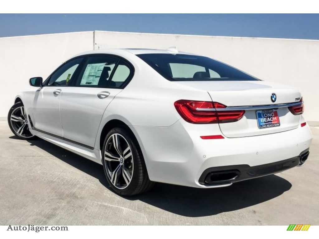 2019 7 Series 750i Sedan - Alpine White / Black photo #3
