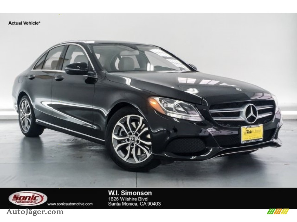 2018 C 300 Sedan - Black / Crystal Grey/Black photo #1
