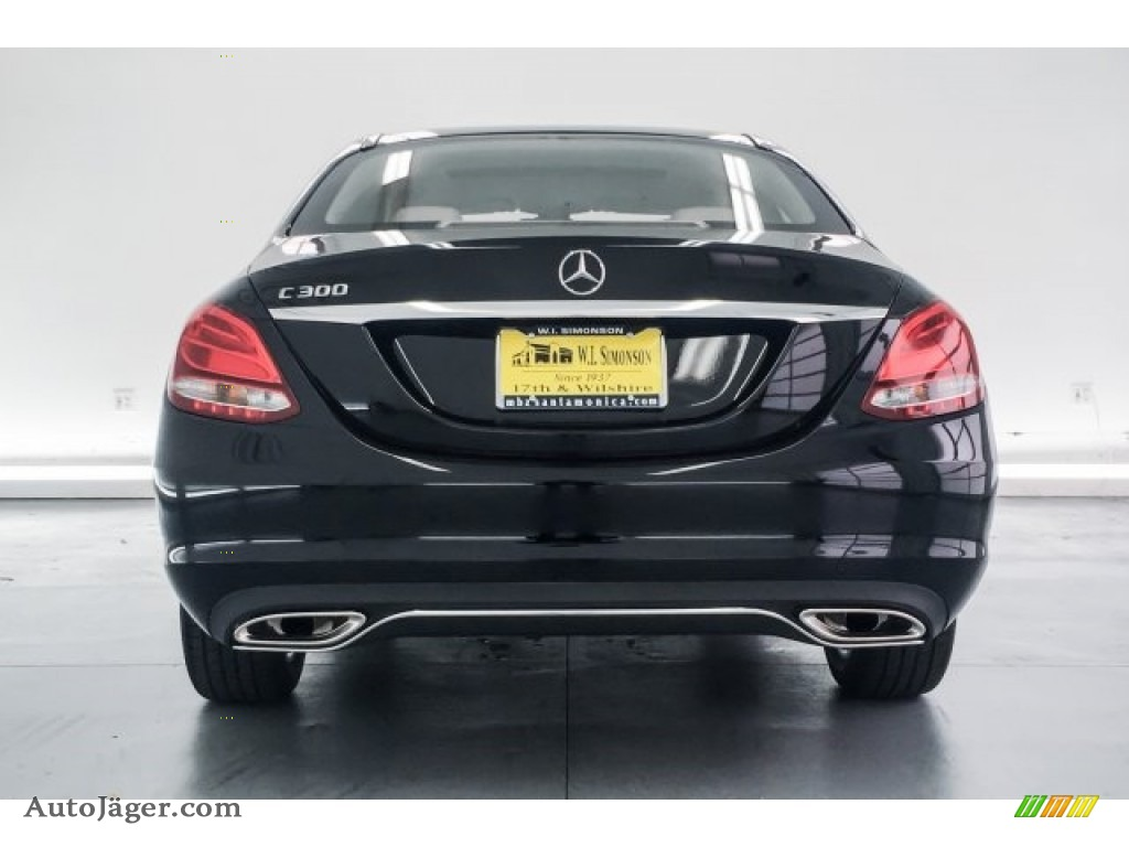 2018 C 300 Sedan - Black / Crystal Grey/Black photo #4