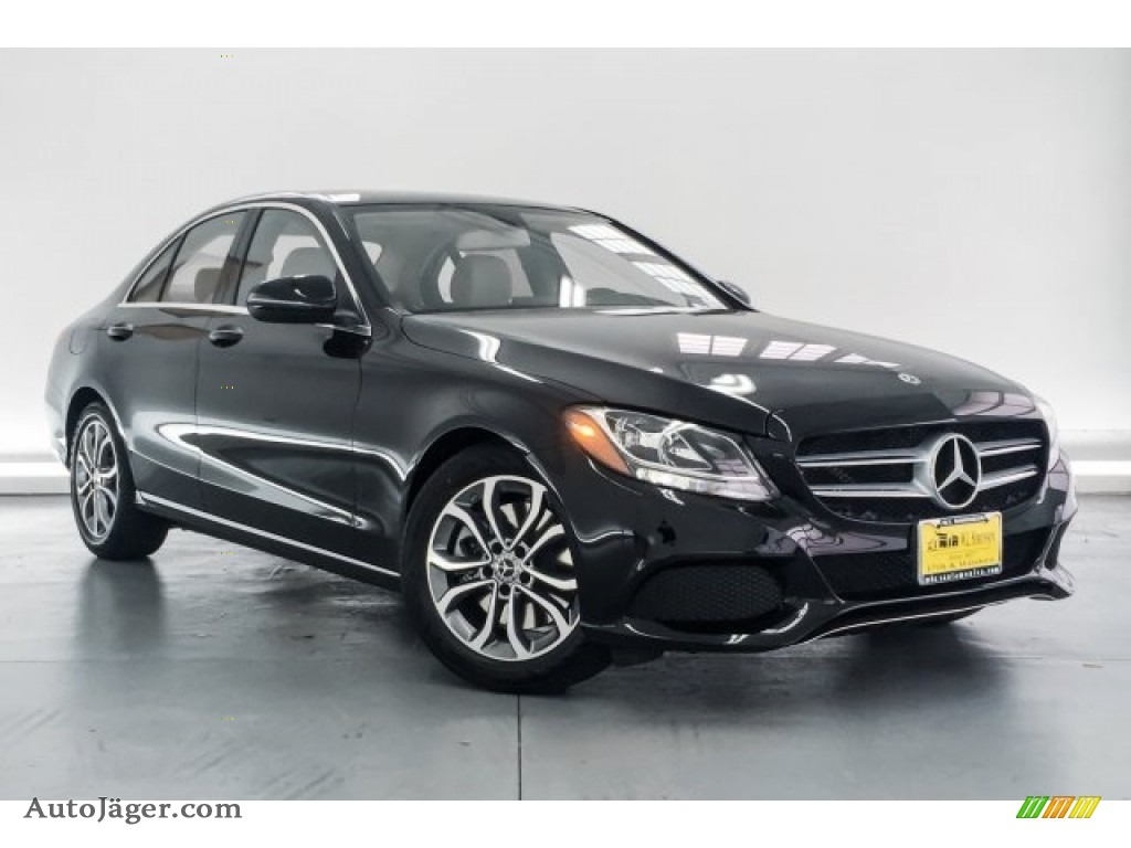 2018 C 300 Sedan - Black / Crystal Grey/Black photo #12