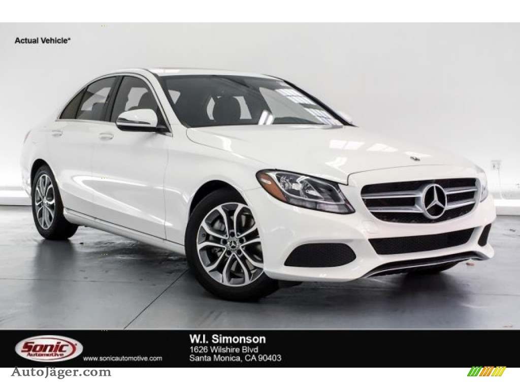 Polar White / Black Mercedes-Benz C 300 Sedan