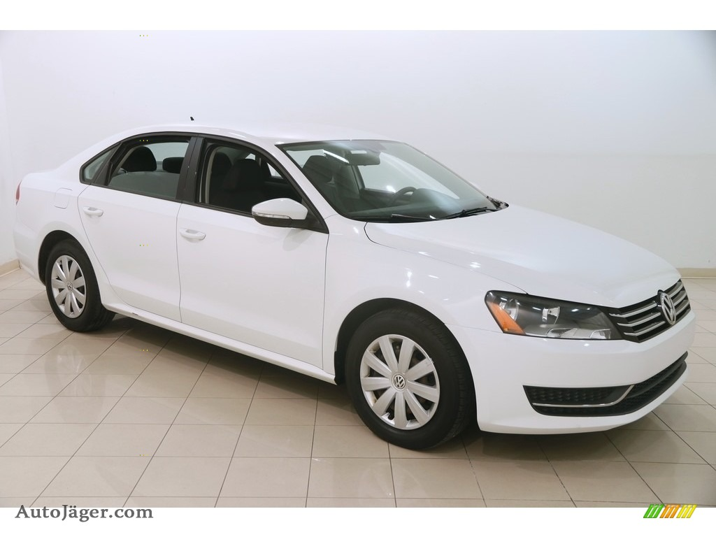 2012 Passat 2.5L S - Candy White / Titan Black photo #1