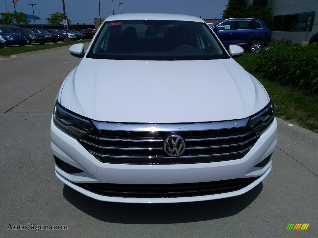 2019 Jetta S - Pure White / Titan Black photo #1
