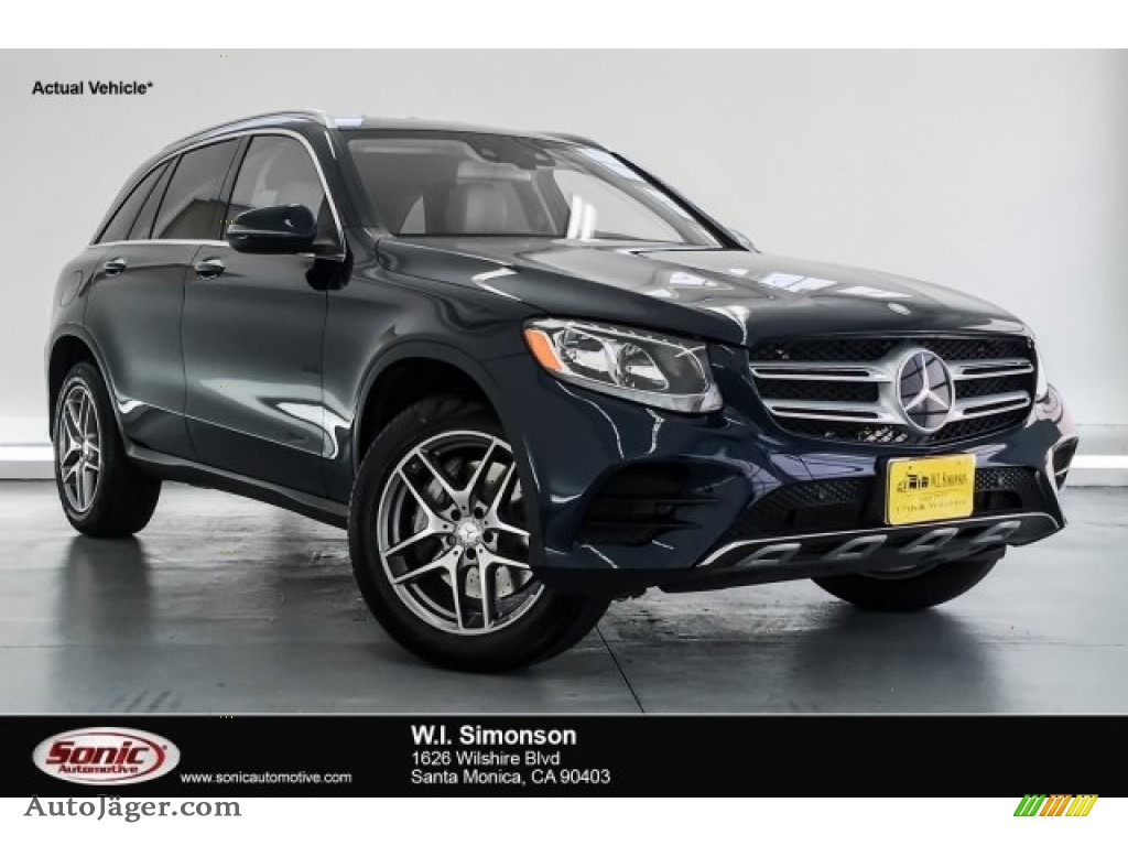 2016 GLC 300 4Matic - Lunar Blue Metallic / Silk Beige photo #1