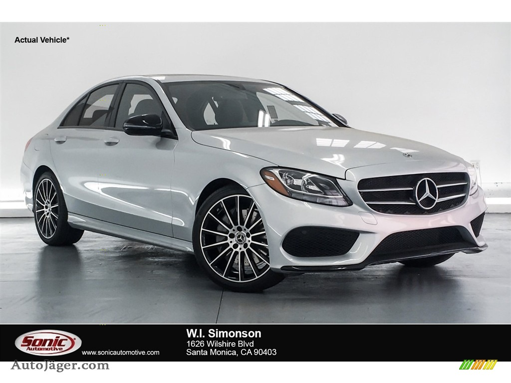 2018 C 300 Sedan - Iridium Silver Metallic / Black photo #1