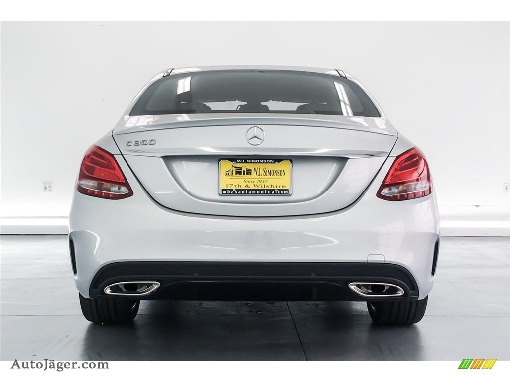 2018 C 300 Sedan - Iridium Silver Metallic / Black photo #4