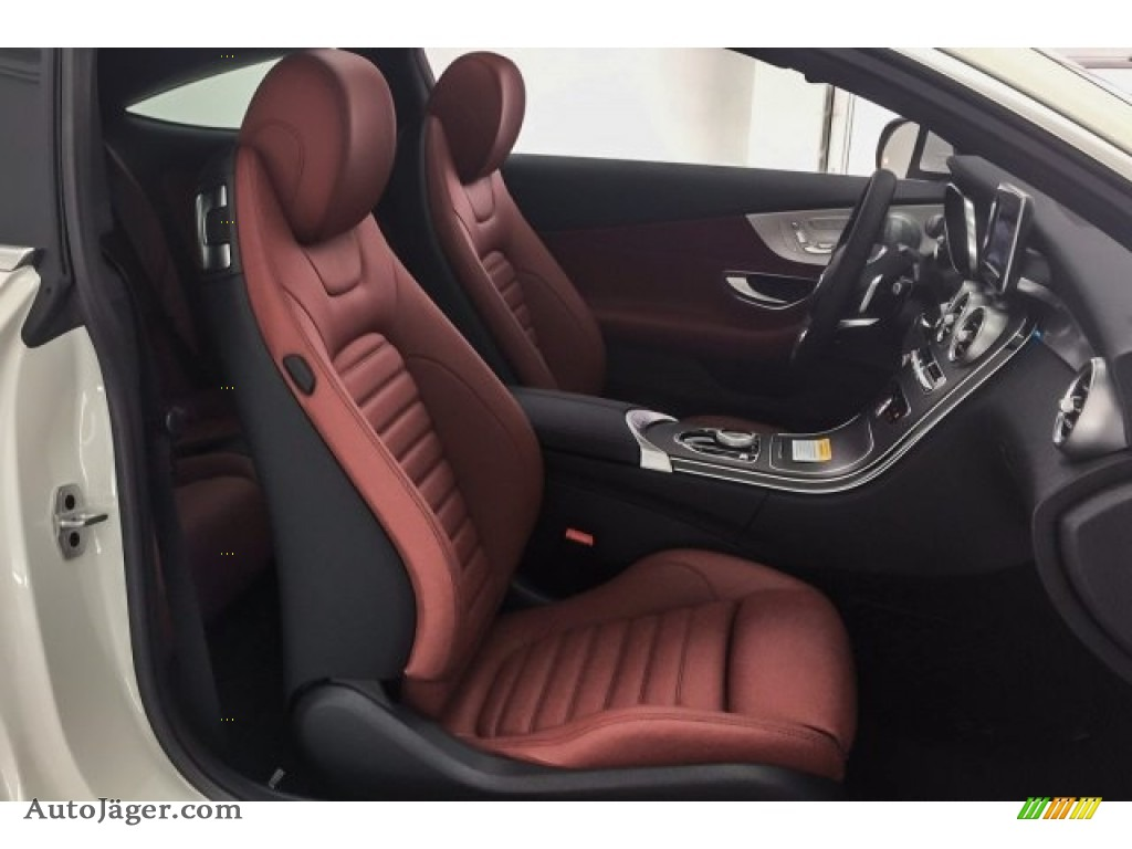 2018 C 300 Coupe - Polar White / Cranberry Red/Black photo #2