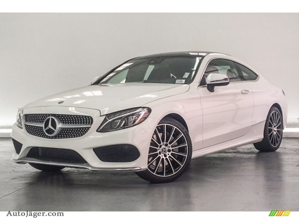 2018 C 300 Coupe - Polar White / Cranberry Red/Black photo #15