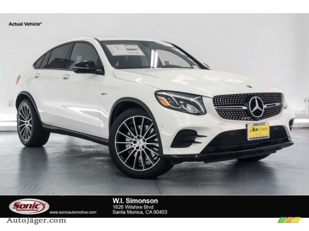 2018 GLC AMG 43 4Matic Coupe - designo Diamond White Metallic / Black photo #1