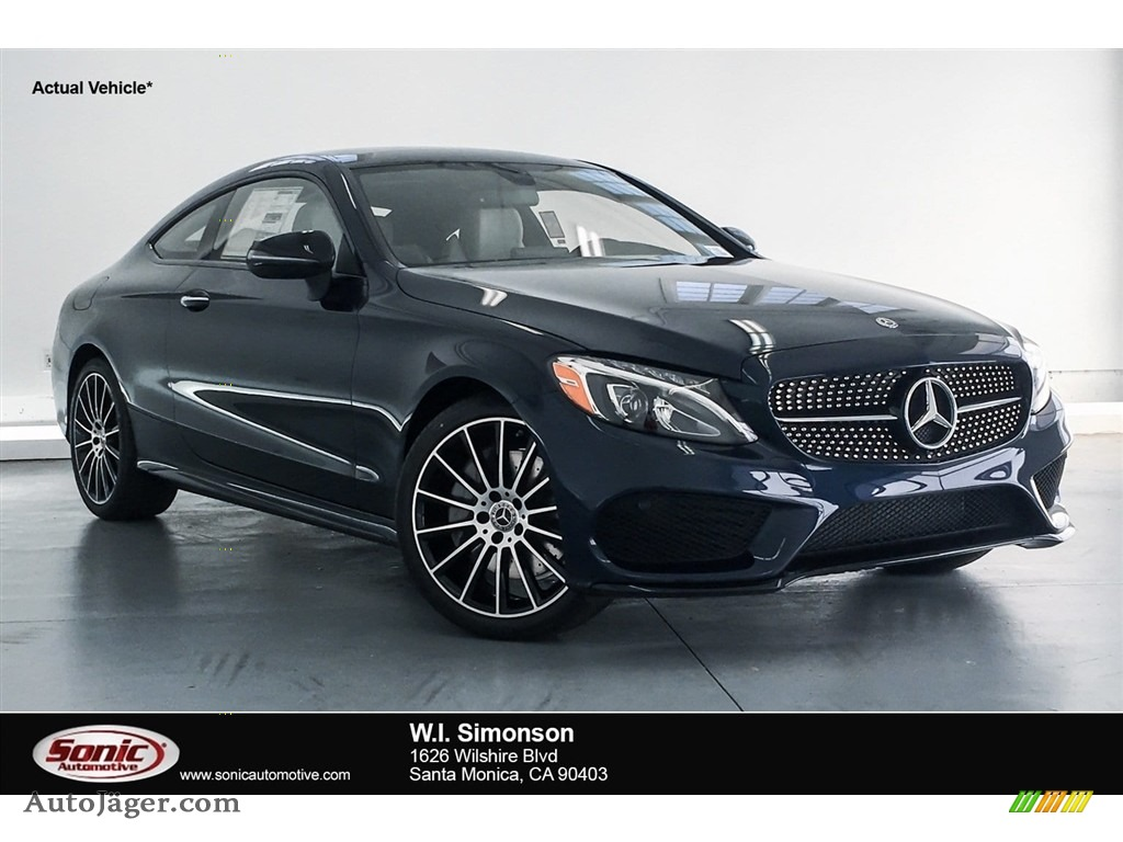 2018 C 300 Coupe - Lunar Blue Metallic / Crystal Grey/Black photo #1