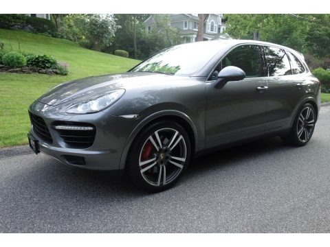 Meteor Grey Metallic 2011 Porsche Cayenne Turbo
