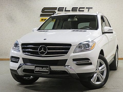 Polar White 2015 Mercedes-Benz ML 350 4Matic