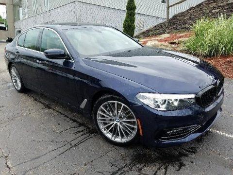Imperial Blue Metallic 2018 BMW 5 Series 540i xDrive Sedan