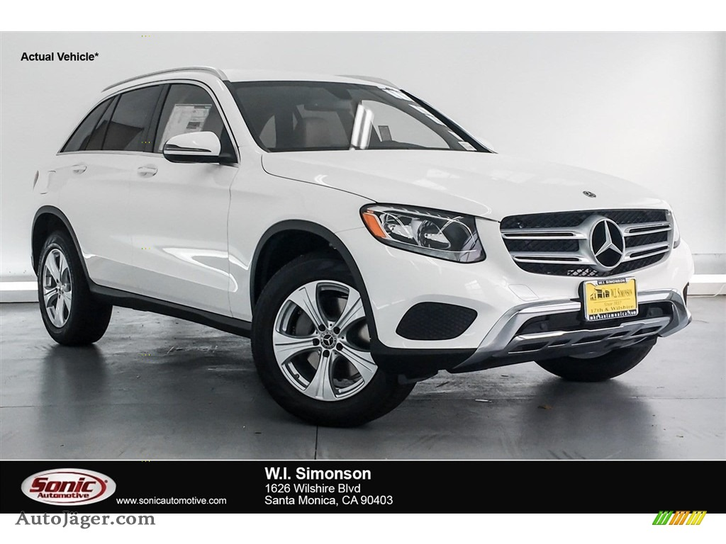 Polar White / Silk Beige/Espresso Brown Mercedes-Benz GLC 300