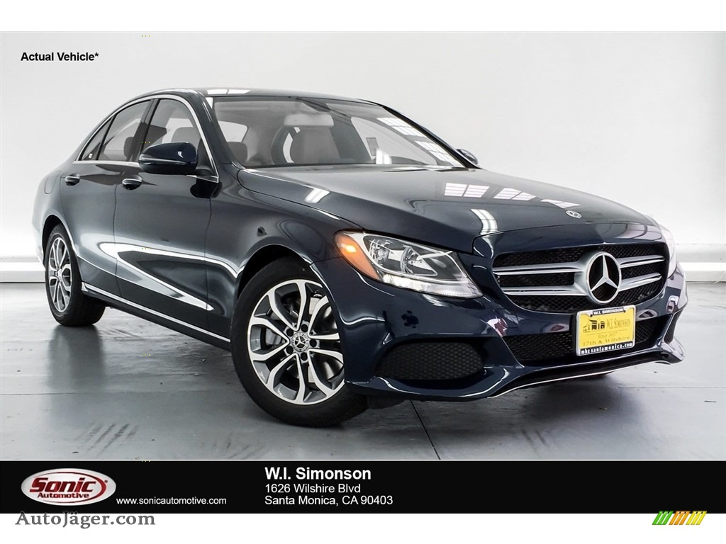 Lunar Blue Metallic / Silk Beige/Black Mercedes-Benz C 300 Sedan