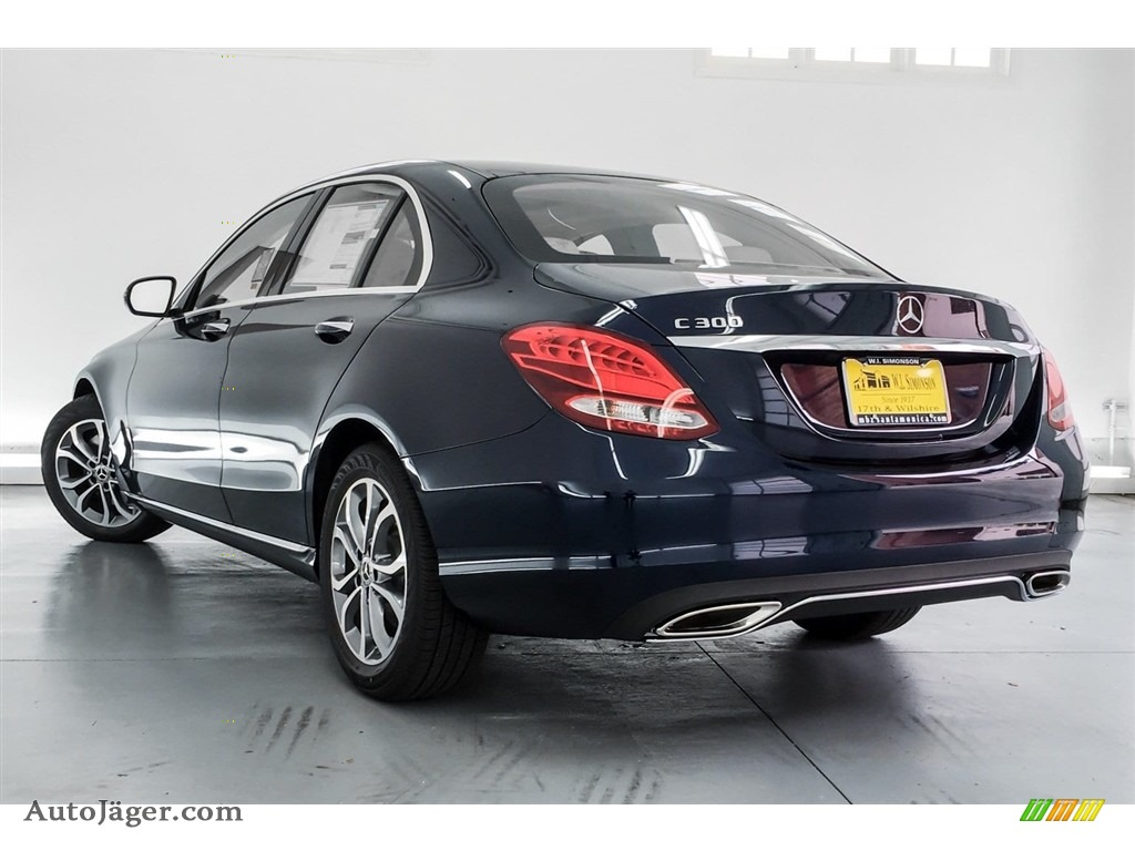 2018 C 300 Sedan - Lunar Blue Metallic / Silk Beige/Black photo #3