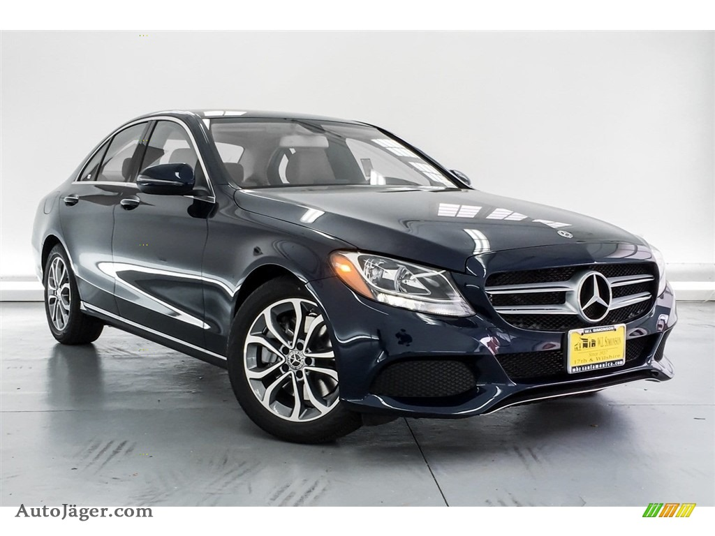2018 C 300 Sedan - Lunar Blue Metallic / Silk Beige/Black photo #12