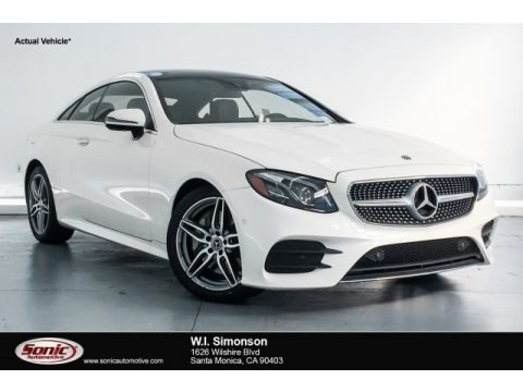 designo Diamond White Metallic 2018 Mercedes-Benz E 400 Coupe
