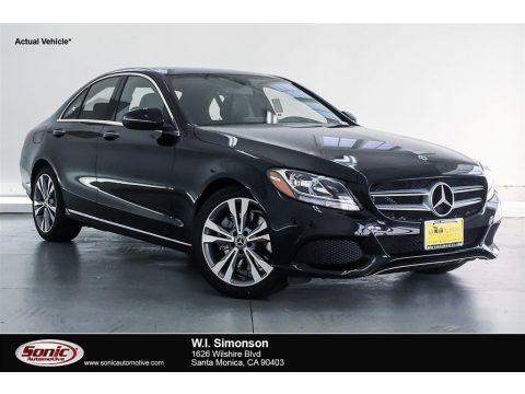 Black 2018 Mercedes-Benz C 300 Sedan