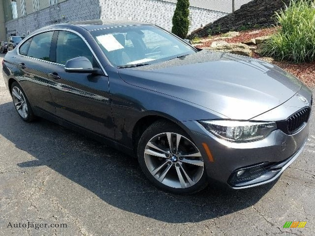 2018 4 Series 430i xDrive Gran Coupe - Mineral Grey Metallic / Black photo #1