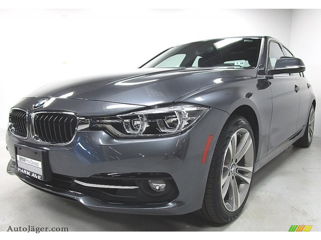 Mineral Grey Metallic / Black BMW 3 Series 330i xDrive Sedan