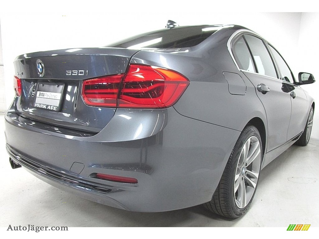 2018 3 Series 330i xDrive Sedan - Mineral Grey Metallic / Black photo #5