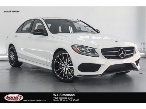 Polar White 2018 Mercedes-Benz C 300 Sedan