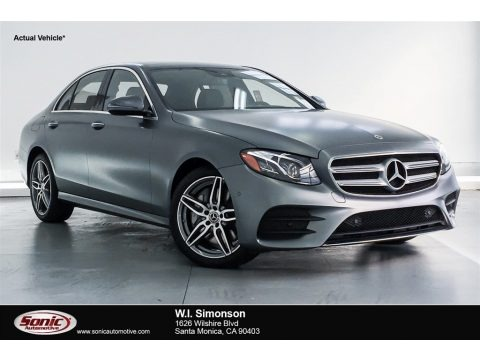 designo Selenite Grey Magno (Matte) 2018 Mercedes-Benz E 400 4Matic Sedan
