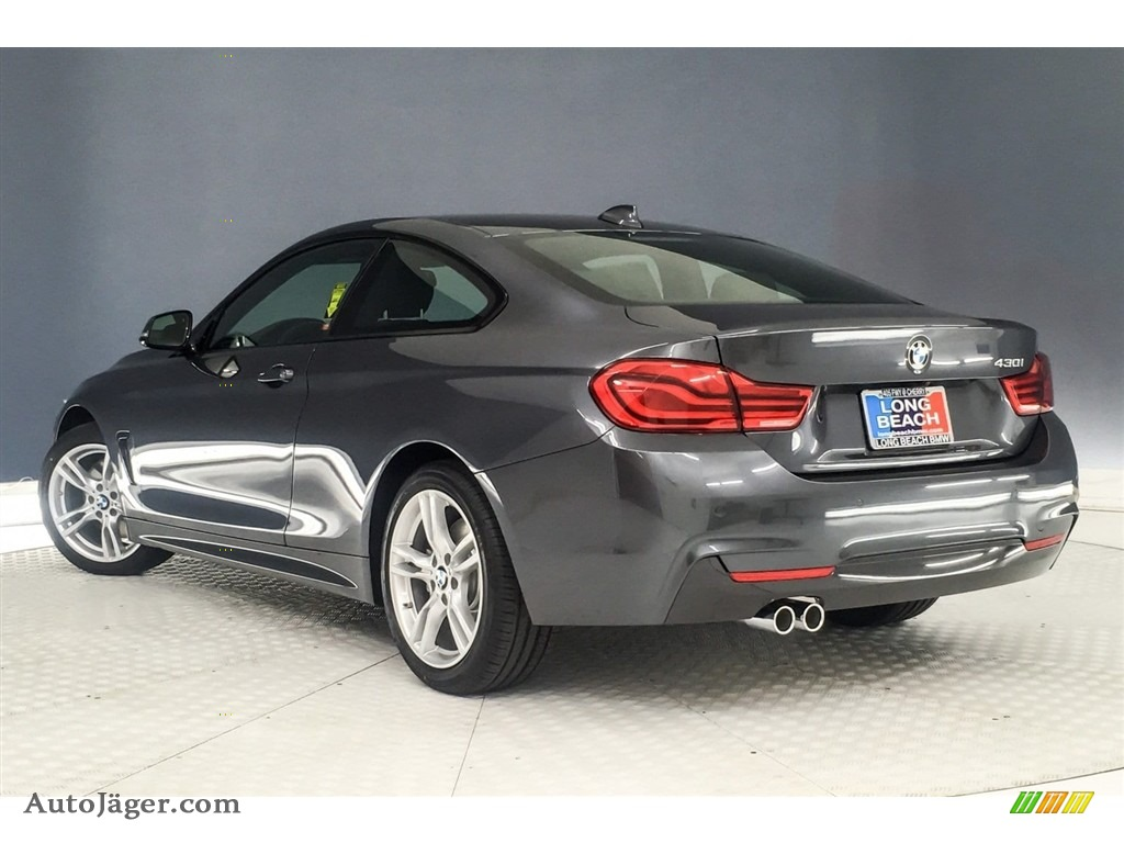 2019 4 Series 430i Coupe - Mineral Grey Metallic / Black photo #3