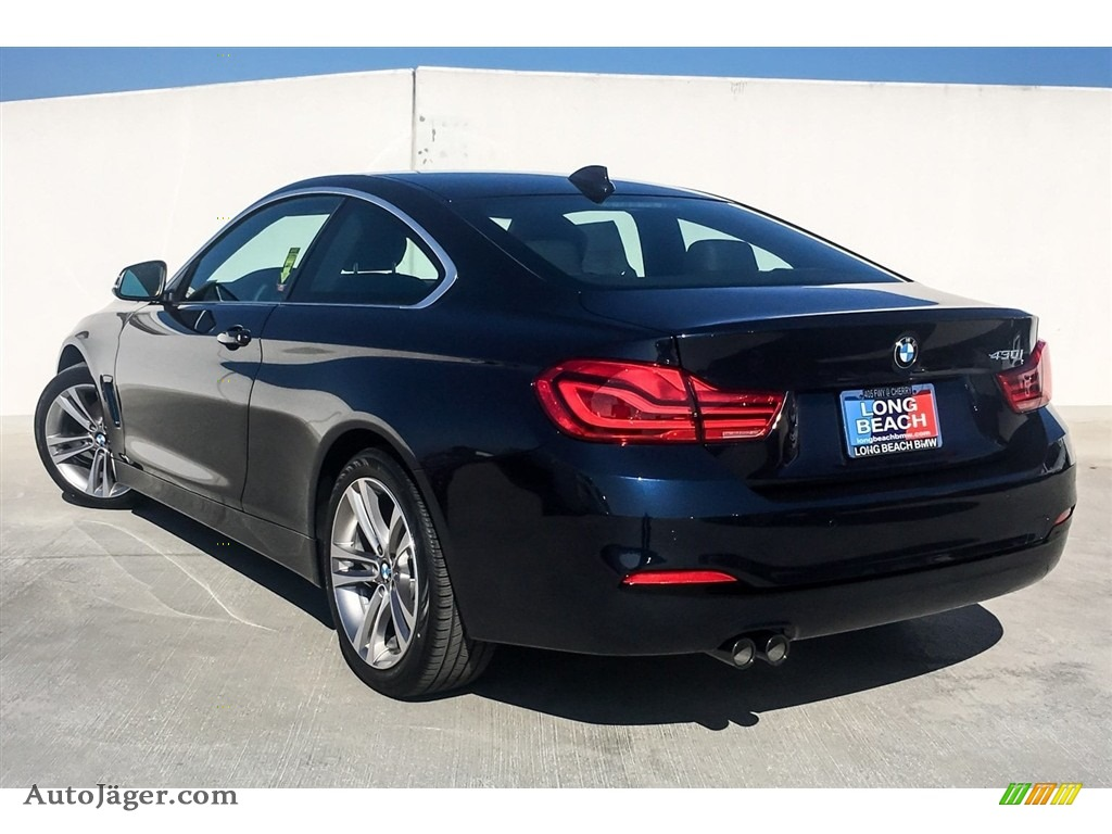 2019 4 Series 430i Coupe - Imperial Blue Metallic / Black photo #3