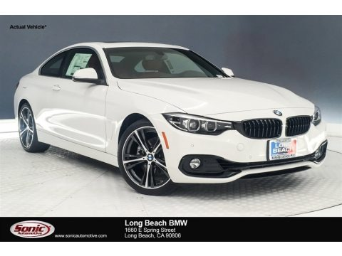 Alpine White 2019 BMW 4 Series 430i Coupe