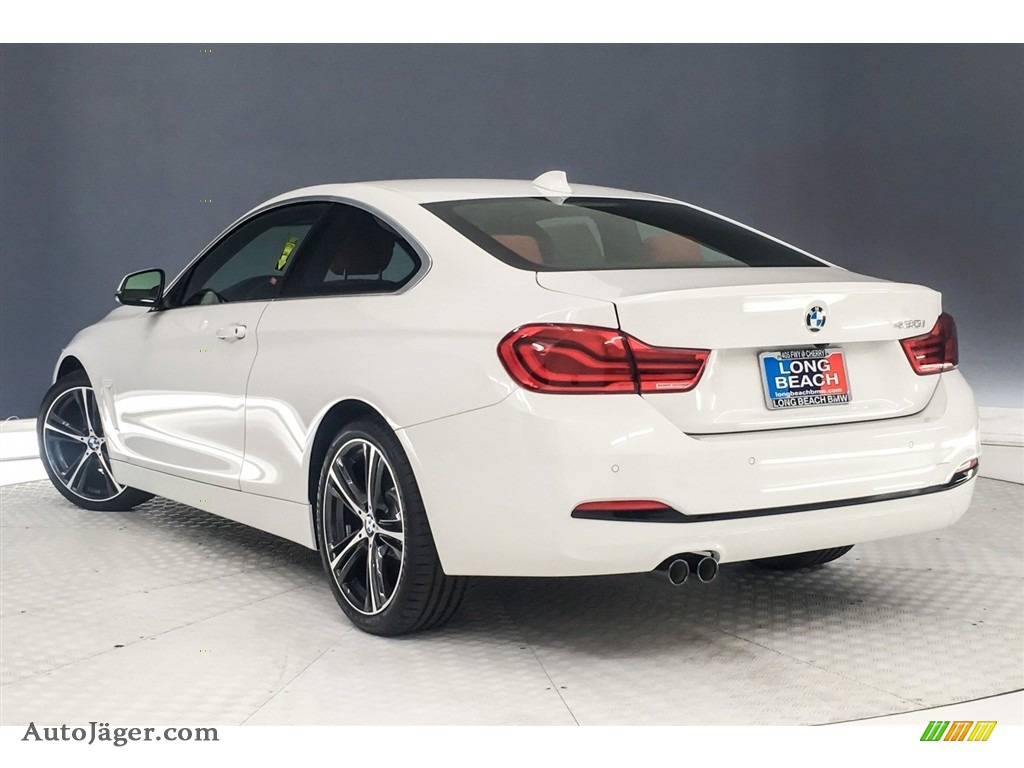 2019 4 Series 430i Coupe - Alpine White / Coral Red photo #3