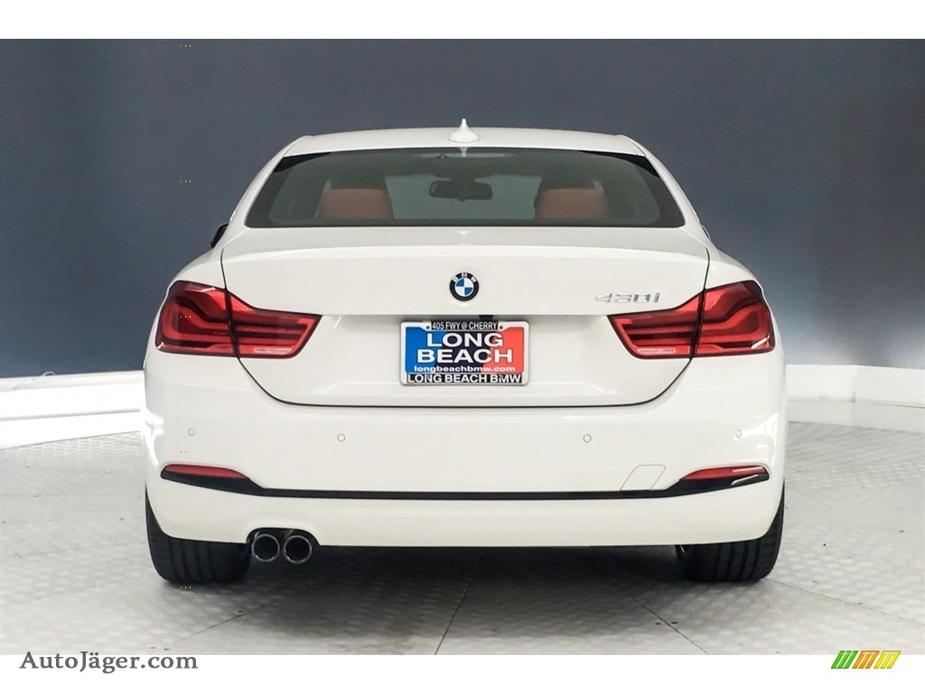 2019 4 Series 430i Coupe - Alpine White / Coral Red photo #4