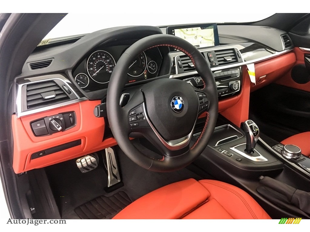 2019 4 Series 430i Coupe - Alpine White / Coral Red photo #5