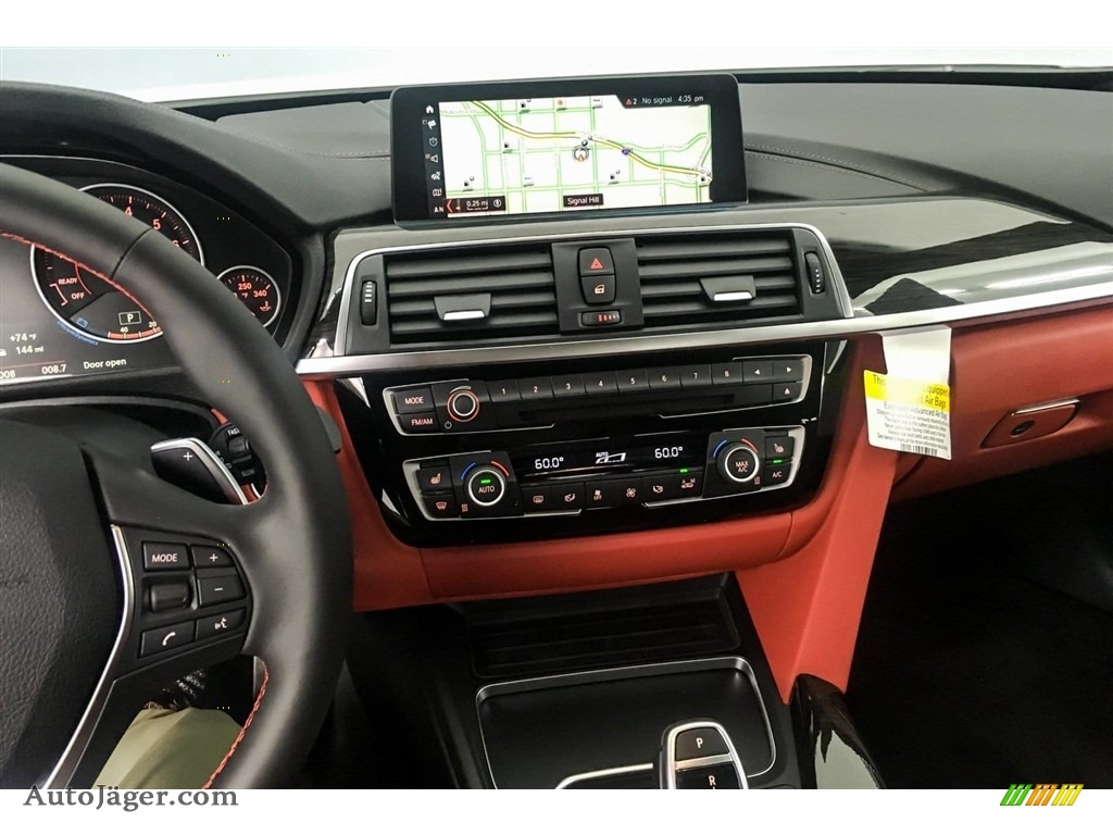 2019 4 Series 430i Coupe - Alpine White / Coral Red photo #6