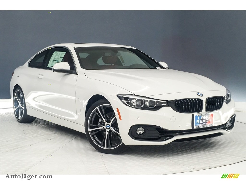 2019 4 Series 430i Coupe - Alpine White / Coral Red photo #12