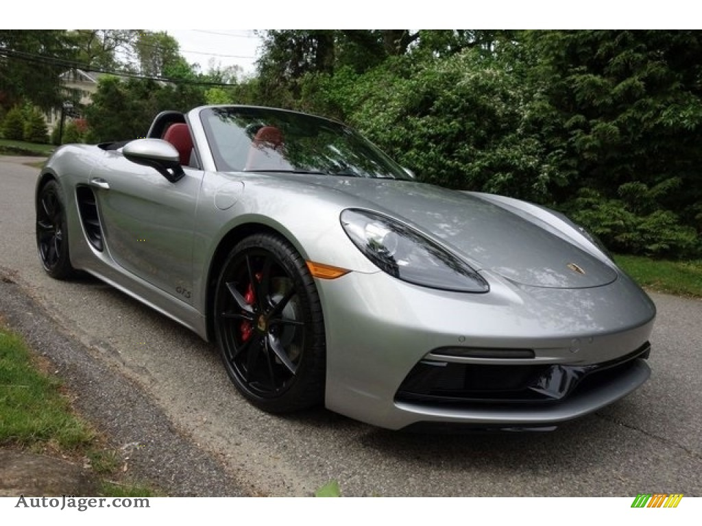 2018 718 Boxster S - GT Silver Metallic / Black/Bordeaux Red photo #1