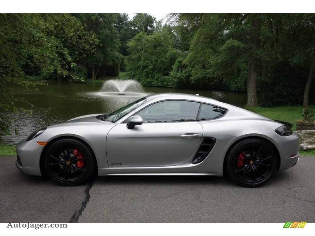 2018 718 Cayman GTS - GT Silver Metallic / Black/Bordeaux Red photo #7