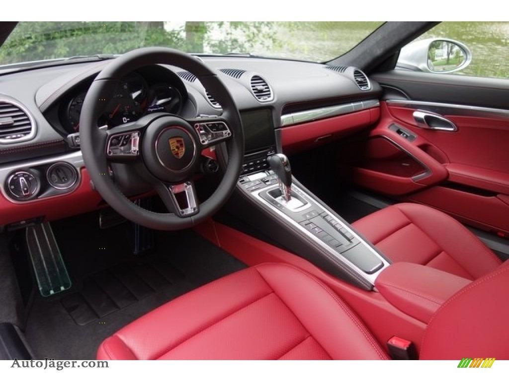 2018 718 Cayman GTS - GT Silver Metallic / Black/Bordeaux Red photo #10